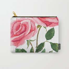 two pink roses watercolor Carry-All Pouch