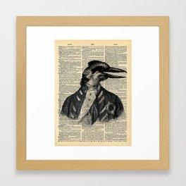 Kookaburra Man Vintage Inspired Hipster Dictionary Page Wall Art Framed Art Print