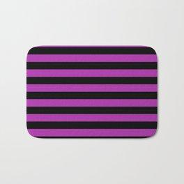 Stripes (Black & Purple Pattern) Bath Mat