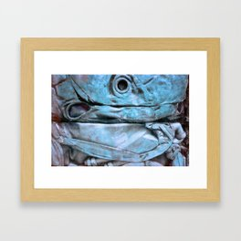 Blue blue Framed Art Print