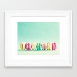 Macarons, macaroons row, pop art Framed Art Print