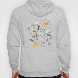 One Line Portraits Hoody