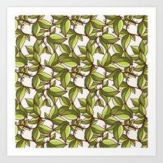 Fresh summer leaves Art Print