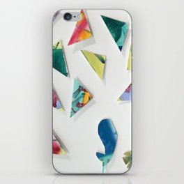 whale and triangles iPhone Skin