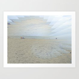 Illusion of Golden Beach Art Print