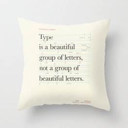 Typography Anatomy Throw Pillow