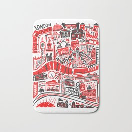 London Map Bath Mat