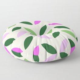 Leaves & Petals - Pink & Green Floor Pillow