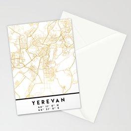 YEREVAN ARMENIA CITY STREET MAP ART Stationery Cards