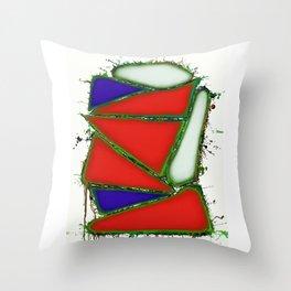 Red sail Throw Pillow
