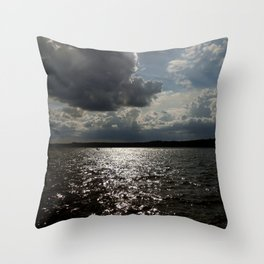 Dark Clouds in the Sky Throw Pillow