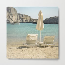 Seating under the Sun Metal Print