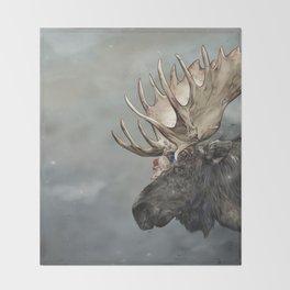 Eerik the Sami Shaman and Hirvi the Moose Throw Blanket