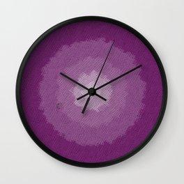 purple fabric Wall Clock