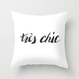 Tres Chic Throw Pillow