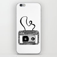 cassette iPhone & iPod Skins featuring Cassette by Virki