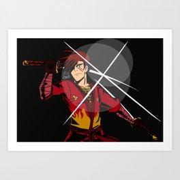Ninjago: RAW RAW FIGHT THE POWAH Art Print