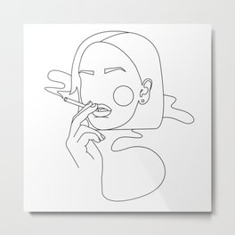 Cigarette Metal Print
