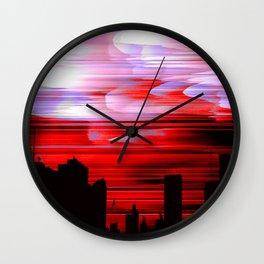 """Red Night Sky"" Wall Clock"