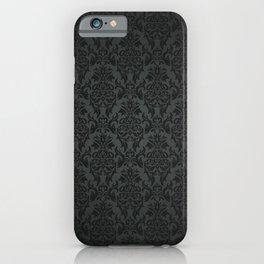 Luxury Black Damask iPhone Case