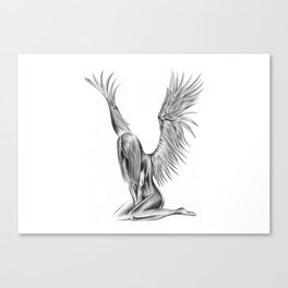 Lonely Angel Canvas Print