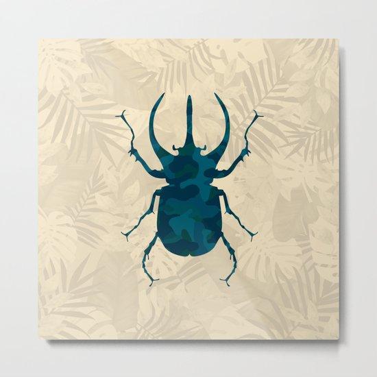 Original Camouflage Pattern Scarab Beetle Metal Print