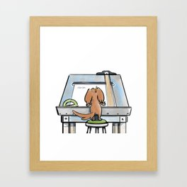 Potato Drafting Framed Art Print