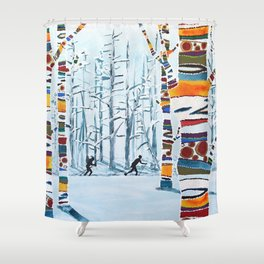 Nordic Love Shower Curtain