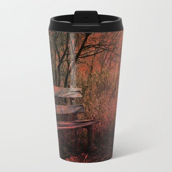 Days Gone By, Forest Landscape Metal Travel Mug