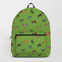 8 Chinese Horses Backpack