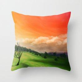 Sunset Landscape Throw Pillow