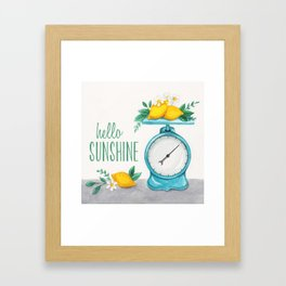 Lemon Kitchen Scale 1 Framed Art Print