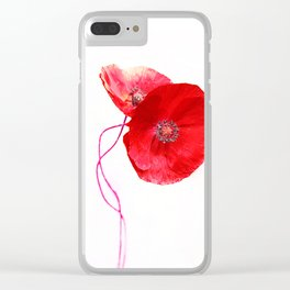 Poppies (duet) Clear iPhone Case
