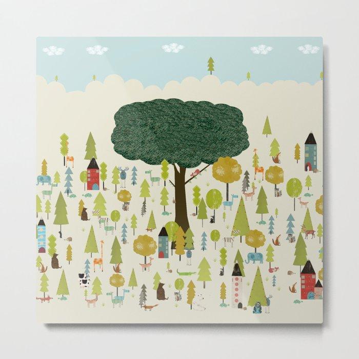 little nature wood Metal Print