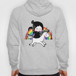 Death Is Magic - Unicorn Grim Reaper Rainbow Hoody