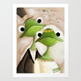 Happily Ever AFter Frogs  Art Print