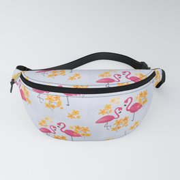 Floral Flamingo Fanny Pack