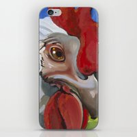 chicken iPhone & iPod Skins featuring Chicken by Jeanne Hollington