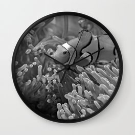 Clown Fish (Black and White) Wall Clock