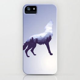 Wolf Double Exposure Surreal Wildlife Animal Wolves Gifts iPhone Case