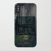 never stop exploring iPhone & iPod Cases featuring Never Stop Exploring II by Leah Flores