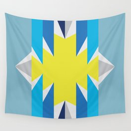 SUN_Yellow Star_Summer - Style Me Stripes Wall Tapestry