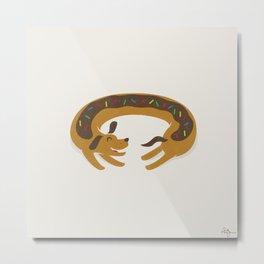 Sprinkled Dognut Metal Print