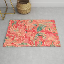 Watercolor exotic flowers Rug