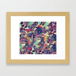 Midnight Floral Abstract Framed Art Print