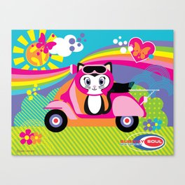 Baby Scoot ( Girls ) Canvas Print
