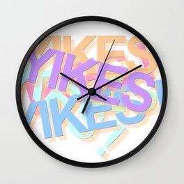YIKES! Wall Clock