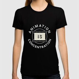 Animation is concentration Disk T-shirt