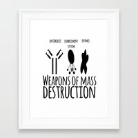 weapons of mass creation Framed Art Prints featuring Weapons of mass destruction by Medicowesome