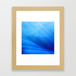 Nexus Blue Framed Art Print